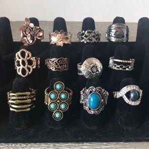 Paparazzi Rings lot of 12